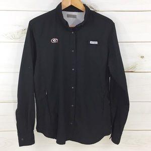 COLUMBIA PFG Black Long Sleeve UGA Shirt